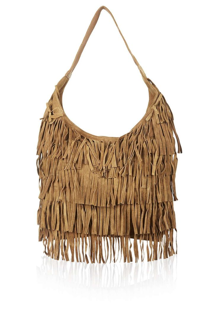 Oversized Fringe Hobo Bag