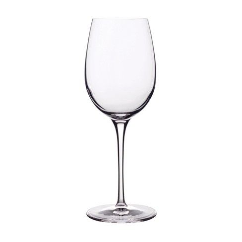 The Crescendo White Wine Glass is made in Italy of SON.hyx Break Resistant Glass. Luigi Bormioli's proprietary SON.hyx glassware formula represents an exciting fusion of elegance and technology. These machine blown glasses have laser cut rims, ideal weight, and maintain their clarity for up to 4000 industrial dishwashing cycles. The glasses are lead free and carry a 25-year Guarantee against chipping of the rim as well as any discoloration due to automatic dishwashing. The beautiful...