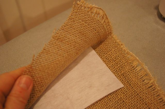Make curtains without sewing- burlap is hard to sew, maybe should use this instead. Also see clips at bottom to get them to hang nicely.