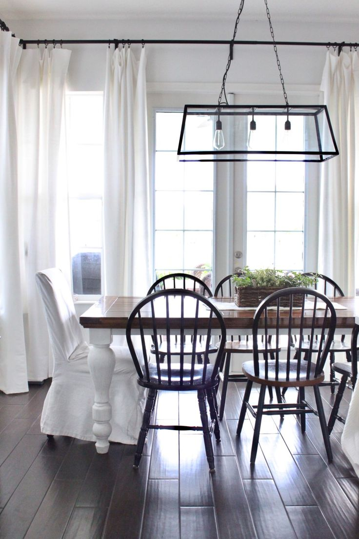 "I frequently get asked, ""what's your paint color?"" Or ""where did you find your light fixture?"" So I thought I would compile an updated list of sources to help readers. Throughout Finishes: Walls- Behr ""White Moderne"" Cabinets and trim- Behr ""Ultra Pure White"" Floors- Floor and Decor- Exotica Espresso 6″x36″ Glazed Porcelain Stoneware Kitchen- Cabinets- …"
