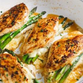 This fast, easy and delicious Asparagus Stuffed Chicken Breast recipe is a perfect meal for your weeknight dinner and it requires only 4-ingredient.