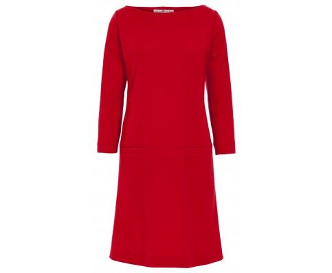 Dressfactor A-lijn jurk rode wol