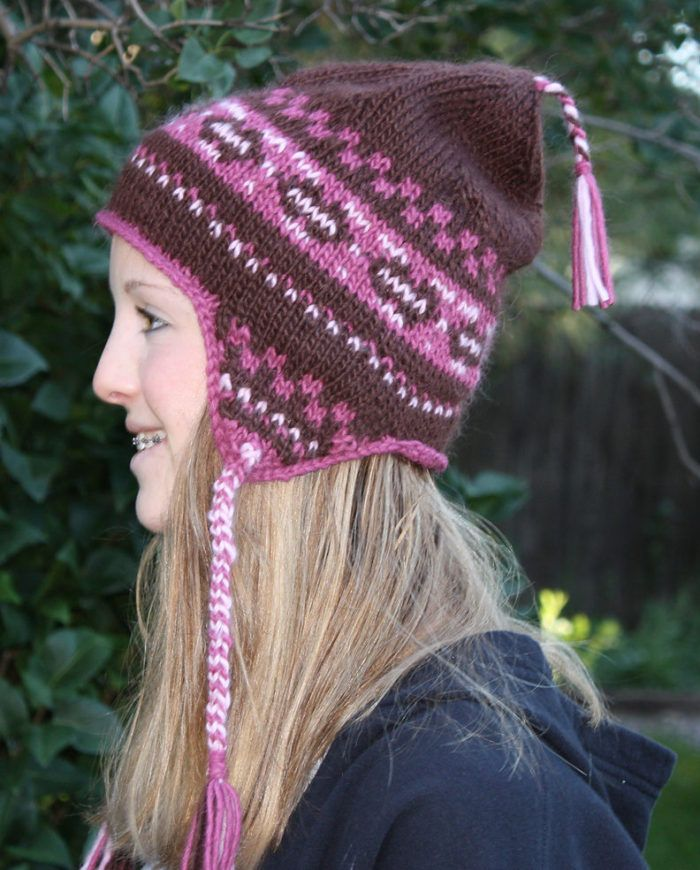 e830825a86c Free Knitting Pattern for Ryan s Hat - Colorful Andean chullo style earflap  hat designed by Pam Allen. Pictured project by jamh who added some of the  ...