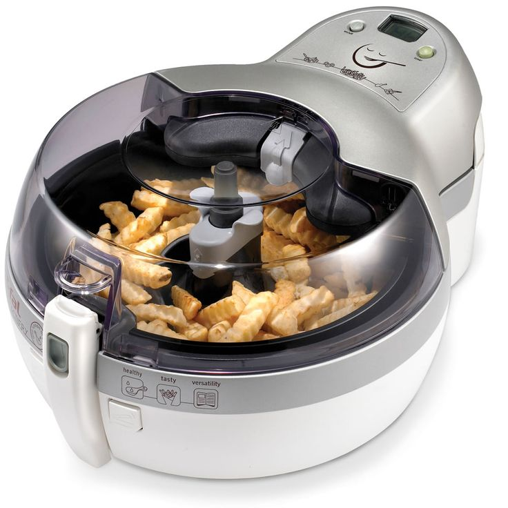 The Healthiest Deep Fryer - Hammacher Schlemmer, makes up to 2 lbs. of crisp, succulent fried food using only one tablespoon of oil.