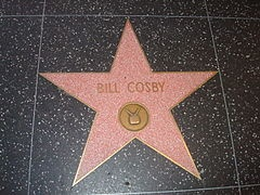 Bill Cosby - a star on the board walk and a doctorate in education from the University of Massachusetts, Amherst. Kudos.