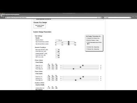 Design a qPCR Probe w/Known Primers using PrimerQuest®