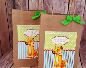 Resultado de imagen para bolsas de dulces rey leon