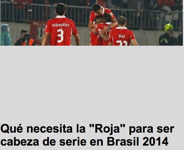 El periodico 24 horas de Chile afirmo que esta solamente a dos puntos de pasar al Mundial