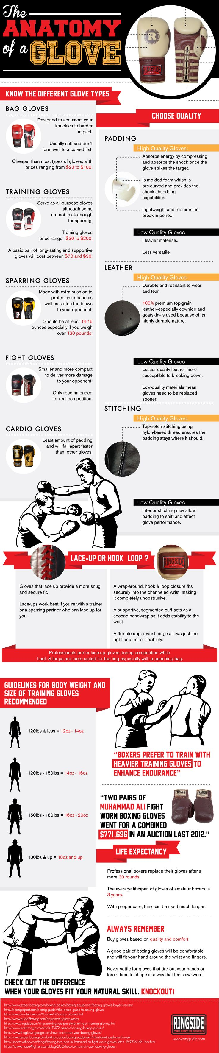 The Anatomy of a Glove - Ringside Boxing Glove Infographic