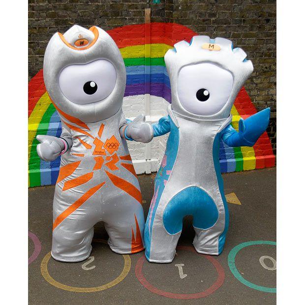 London 2012 mascots Wenlock and Mandev