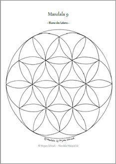 Mandala Ausmalbilder Vorlage Mandalas Zum Ausdrucken Blume Des Lebens Mandala 10 Als Pdf Kost Blume Des Lebens Mandala Mandalas Zum Ausdrucken Blume Des Lebens