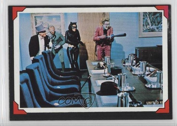 1966 Topps Batman Riddler Back #22 Awesome Foursome Non-Sports Card v6w