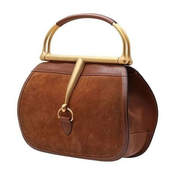 GUCCI VINTAGE HORSEBIT BROWN SUEDE HANDBAG ❤ liked on Polyvore featuring bags, handbags, vintage purses, gucci, man bag, brown hand bags and gucci purse