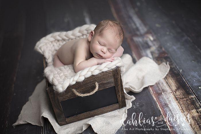 Dallas Newborn Photographer, wooden, newborn boy, wood, crate