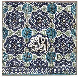 Damascus pottery tiles. Ottoman Syria, 17th century