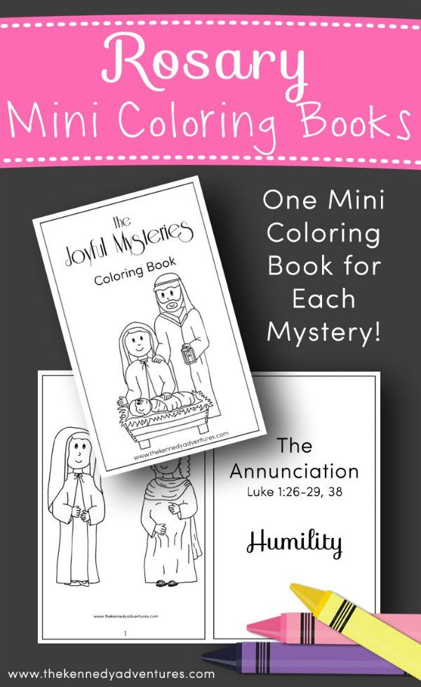 This FREE Rosary Coloring book, with all 20 mysteries, is perfect for Catholic families.