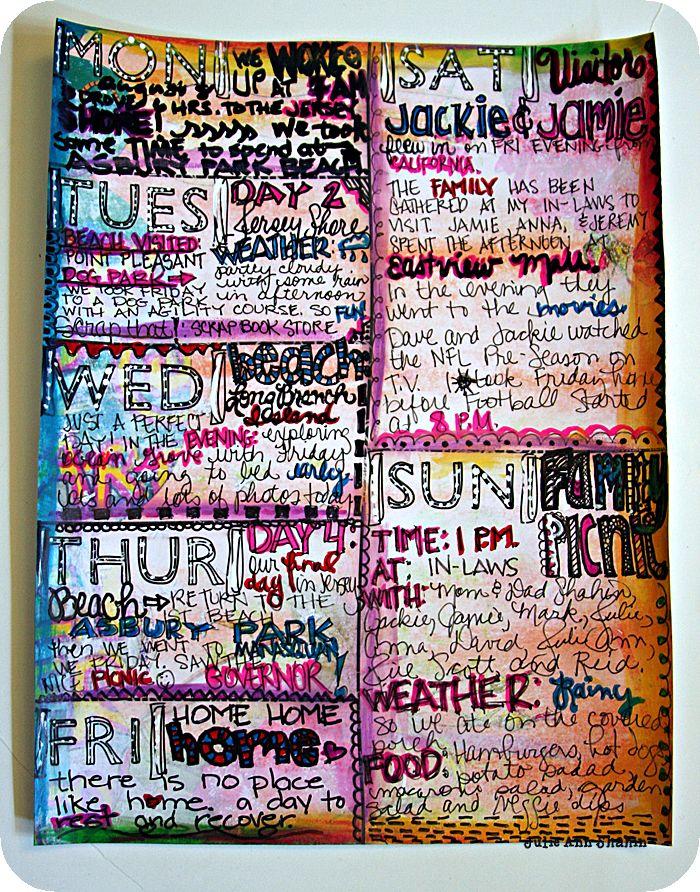 Art Journal Calendar Pages : Best art journal grids images on pinterest