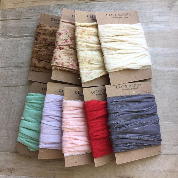 """Stripped ribbon made from soft 100% cotton fabric. Ribbon is about 3/4"""" wide with frayed edges for cool rustic look and feel. Decorate your country cottage or dress up gifts and packages. It's also great for weddings--florists love it too. 5 yards"""