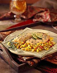Tilapia Sweet Corn Baked in Parchment