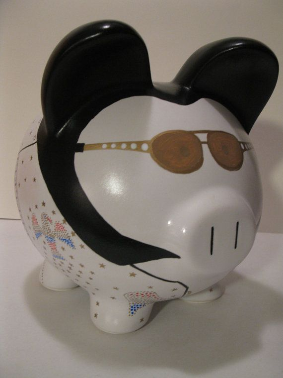 Elvis Piggy Banks Made To Order Would you by PigPatrol on Etsy, $42.00