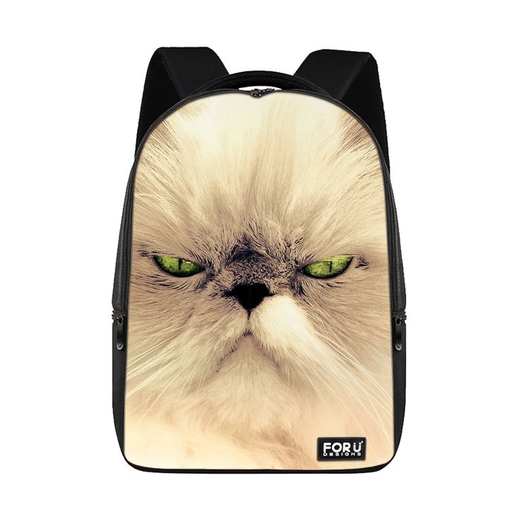 Angry Cat Laptop Backpack