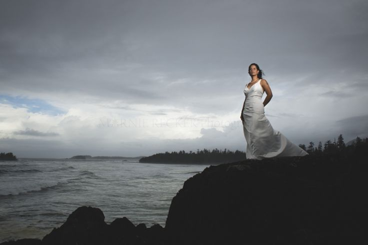 Sophie & Anthony | Trash the Dress Session | Tofino Storm Watching » marnierecker.com