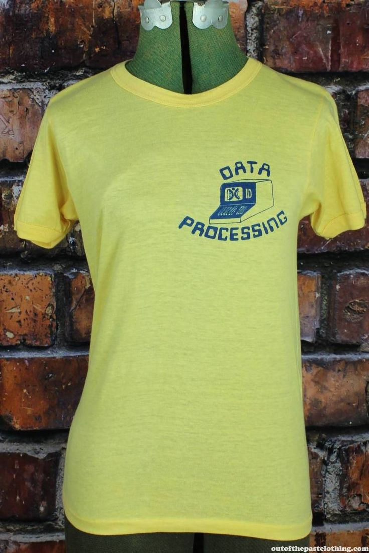 Data Processing Vintage 1970s T-Shirt