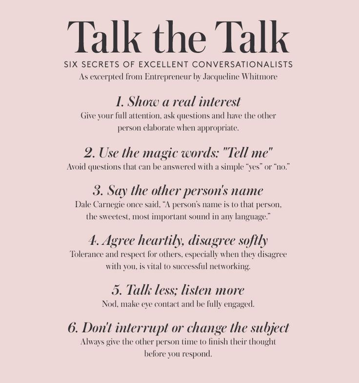Six secrets of excellent conversationalists As excerpted from Entrepreneur by Jacqueline Whitmore #wisewords