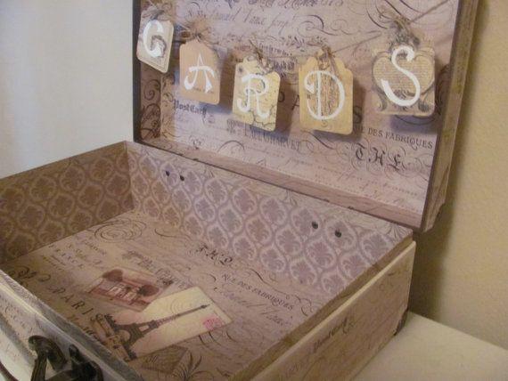 Paris-themed/travel-themed suitcase for por GreenBridalBoutique
