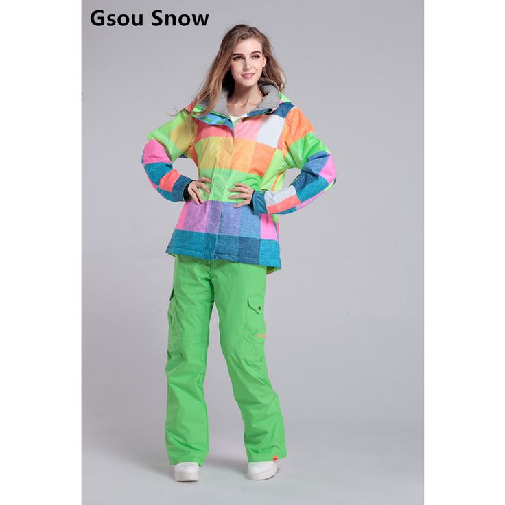 Snow Gsou Women Waterproof Ski Suit Ski Jacket Ski Pants Female Winter Suit Color Pattern -- AliExpress Affiliate's buyable pin. Clicking on the VISIT button will lead you to find similar product on www.aliexpress.com #Women'sjackets