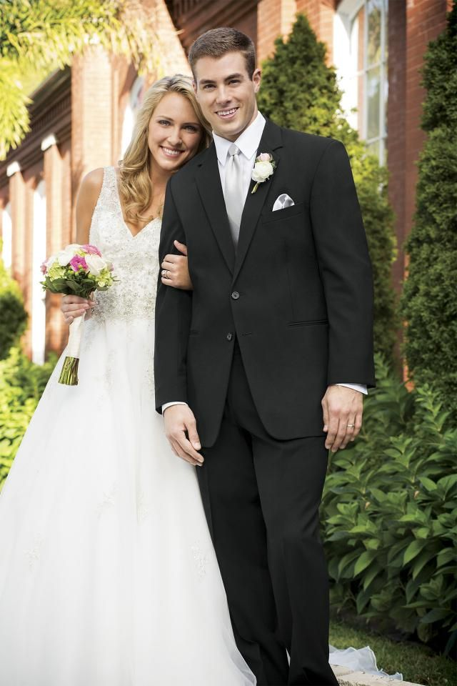 Stephen Geoffrey Black Suit Modern Fit Suit   Jim's Formal Wear