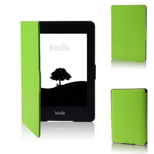 """ForeFront Cases ® NEUE KINDLE PAPERWHITE 2013 Hülle mit magnetischer Auto-Sleep- Wake Funktion für das neue Amazon Kindle Paperwhite Oktober 2013 6"""" / 3G + Wi-Fi + KOSTENLOS MINI EINGABESTIFT! (GRÜN) ForeFront Cases http://www.amazon.de/dp/B00G9ZFRQ2/ref=cm_sw_r_pi_dp_QG70tb1WPF4G888T"""