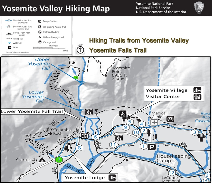 17 best Yosemite Valley hiking maps images on Pinterest Hiking