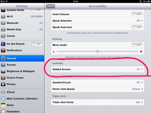 Guided Access – iOS 6 « SEN Classroom