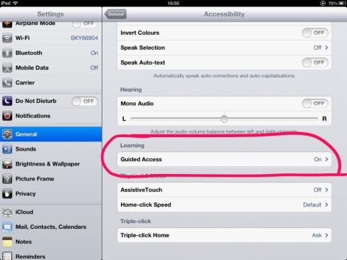 Guided Access – iOS 6 « SEN Classroom