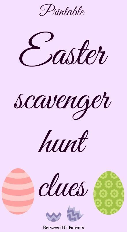Printable Easter scavenger hunt clues to make finding Easter baskets, or anything else, lots of fun