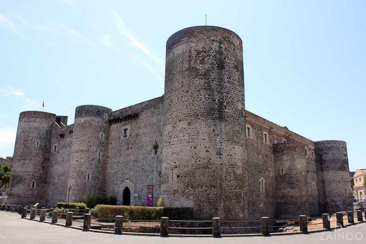 Castello Ursino, castle made of lava stone - Catania, Italy. ©ZAINOO