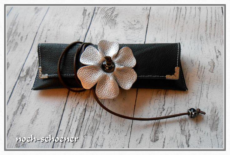 wunderschönes Stiftemäppchen aus Leder #leather #stiftemäppchen #stifterolle #back to school #federtasche