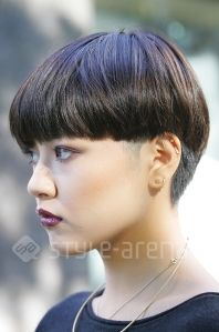 short hair | blunt + tapered Kazumi - Short Hair Style - TOKYO STREET STYLE | style-arena.jp