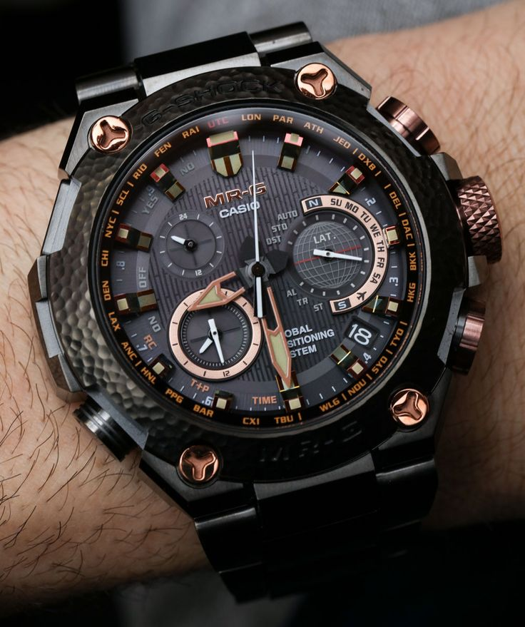 "Casio G-Shock MRGG1000HT Hammer Tone $6,200 Limited Edition Watch Hands-On - by Ariel Adams - on aBlogtoWatch.com ""A big part of me wants to splurge on elaborately decadent Japanese watches from time to time. Well, in fact, I do... High-end Japanese watch"