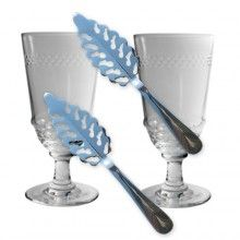 Absintglas set, 2 glas & 2 Absintskedar - Absinthglas - Absint, tillbehör & etiketter