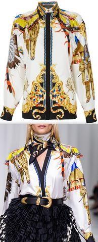 Native-Print Bead-Fringed Shirt