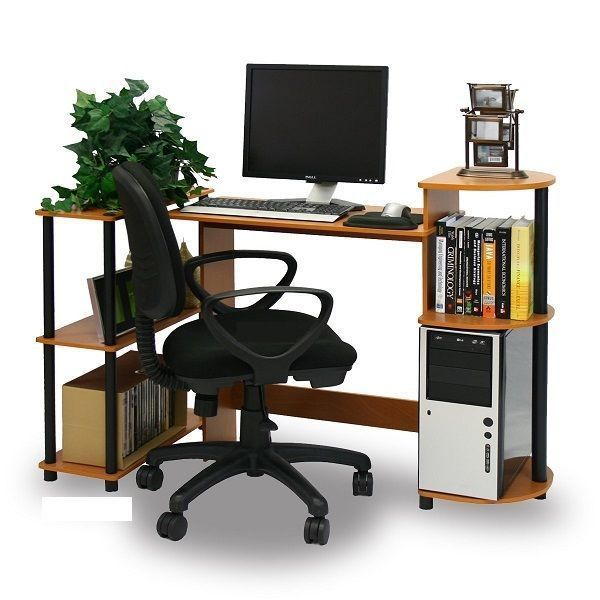Compact Computer Desk Writing Modern Workstation Home Office Furniture Table New #Furrino #Modern
