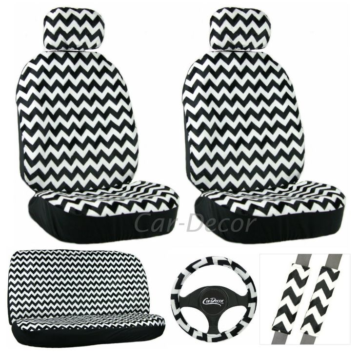 Chevron Car Accessory Seat Cover for Girls 11 Piece Set (I have it for my blue 2015 Honda Fit and love it!) <3
