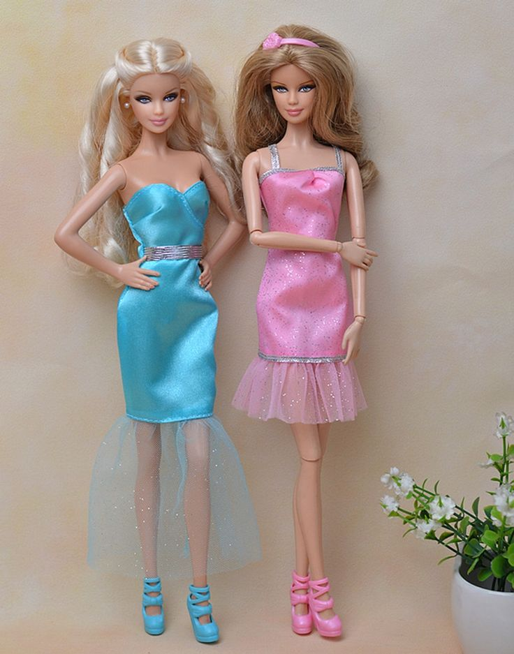 Beautiful Sexy Mini Dress Casual Wear Party Gown Clothes For Barbie Doll Dresses Vestidos For Barbie Doll House Kids Gift #Affiliate