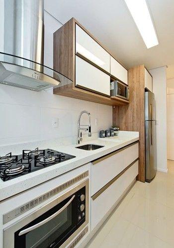 25+ melhores ideias sobre Cozinha planejada apartamento pequeno no Pinterest  # Kit Cozinha Pequena