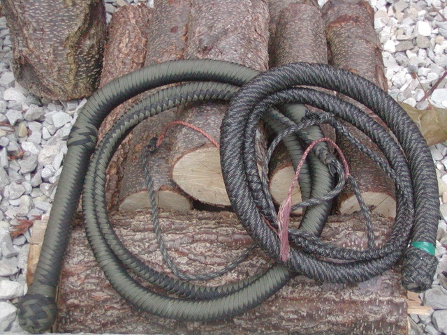 Paracord bull whip.  Buy genuine G.I. 550 cord now! http://www.osograndeknives.com/store/index.php?l=product_list=311