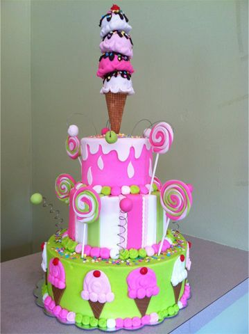 Children 3 Tier Birthday Cake/ Edible Art Of Charlotte, NC ...