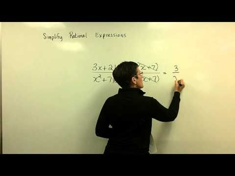 Simplify Rational Expressions Part 1