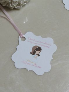 36Personalized Favor Tags 2 1/2'' First by beautifullshop on Etsy